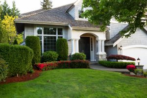 Clean exterior home during late spring seaso