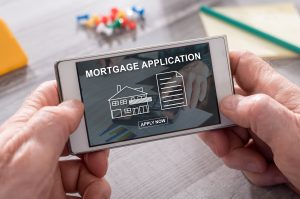 Concept of online mortgage