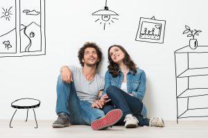 Happy Couple Dream New Home